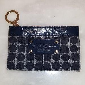 Kate Spade RARE Navy Patent Leather Logo Wallet